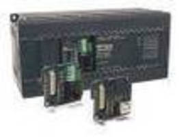 Programmable Logic Controller offers expansion via firmware.