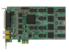 PCI Express DVR Card provides H.264 recording at 480 fps.