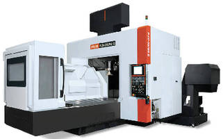 Double-Column VMC suits machining of large workpieces.