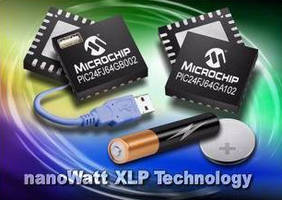 USB/General Purpose Microcontrollers offer 20 nA sleep current.