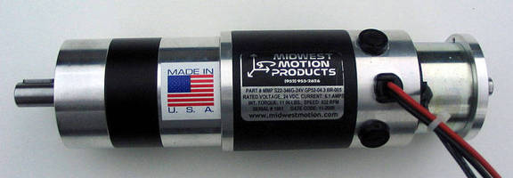 DC Gearmotor develops 11.3 lb-in. torque at 822 rpm.