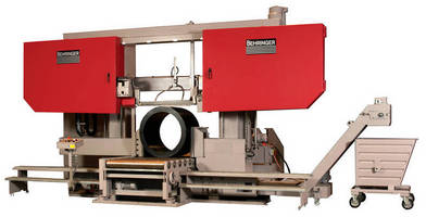 Bandsaws cut large and tough materials.