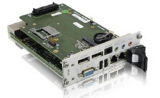 CompactPCI® Board includes DisplayPort interfaces.