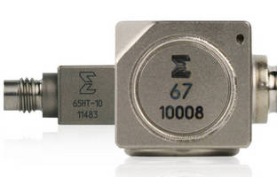 Triaxial Accelerometers operate in temperatures to 347°F.