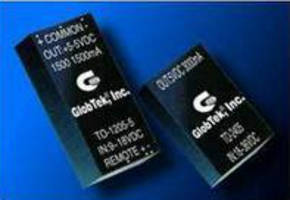 DC-DC Converters deliver 1.5-60 W regulated power.