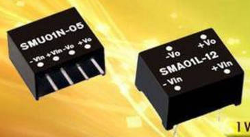 DC/DC Converters (1 W) are sized to promote flexibility.