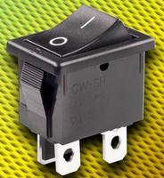 Rocker Switches feature miniature, snap-in mounted design.