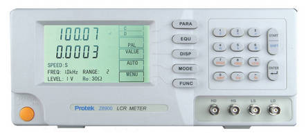 High-Precision LCR Meter offers 0.1% accuracy.