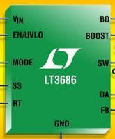 Step-Down Switching Regulator withstands 55 V transients.