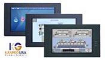 Widescreen HMI is used for industrial and building automation.