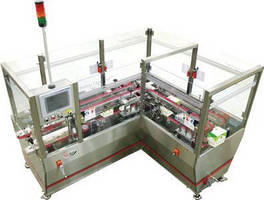 Carton Closing Machine features servo-driven positioning.