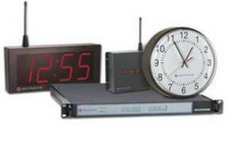 Wireless Clock System synchronizes clocks to official time.