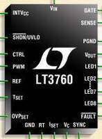 LED Driver supports 8 channels of ten 100 mA LEDs with dimming.