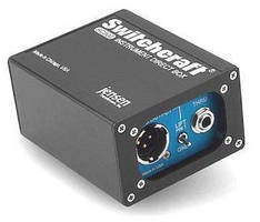 Direct Box suits audio equipment with 3-pin XLR inputs.