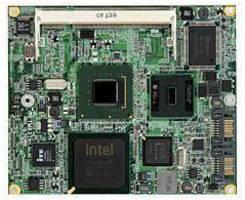 ETX 3.x-Compliant System-on-Module utilizes Intel Atom CPU.