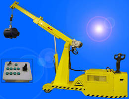 Reversible Mobile Crane operates by remote control.