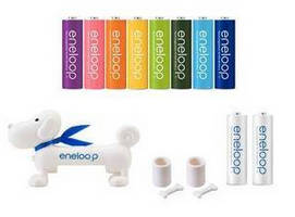 SANYO Releases 8-Color AA-Size 'eneloop' Rechargeable Battery Pack and Product Sets that Include the Simple 'eneloopy' Battery Checker