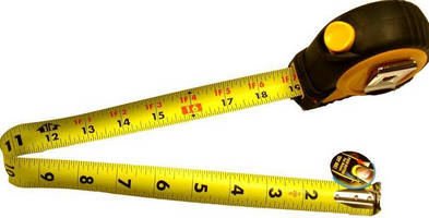 Double-Sided Measuring Tape is used to measure overhead bends.