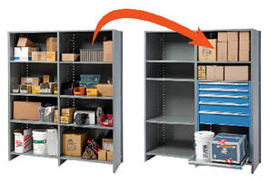 Shelf Converter System offers high-density storage solution.