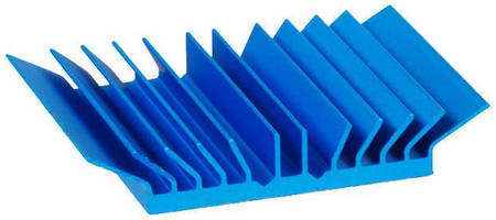 Heat Sinks perform in low airflow velocity conditions.