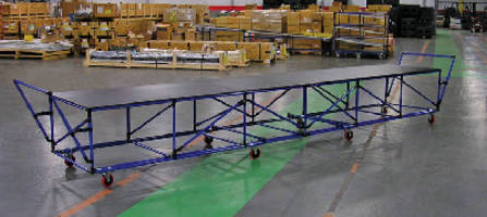 Ergonomic Carts provide large parts handling.