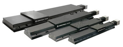 Aerotech PRO Series Hard-Cover, Side-Sealed Linear Stages for Smooth, Accurate Motion at an Attractive Price