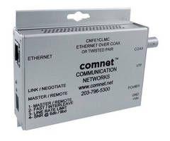 Media Converter transports Ethernet data over coax/twisted pair.
