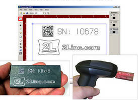 Engraving Software produces 2D data matrix barcodes.