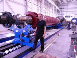 Richter Steady Rest Installed in German Power Plant