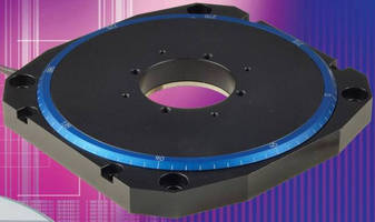 Piezomotor Rotary Stage has low-profile, high-speed design.
