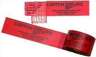 Carton Sealing Tape provides tamper-evident messaging.