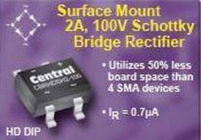 Schottky Bridge Rectifier features low 2.7 mm profile.