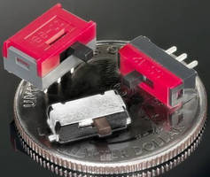 Miniature Slide Switches suit high-density PCB and SMT mounting.