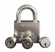 Solid Steel Padlocks allow user to change lock cylinder.