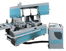 Mitering Bandsaw offers full automatic production operation.