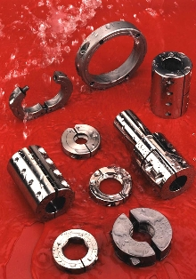 Couplings and Collars are used in wet applications.