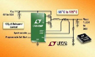 Step-Down DC/DC Controller operates from -55 to 125°C.