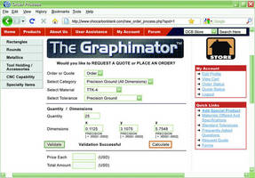 Graphite Blank Estimating & Purchasing Software