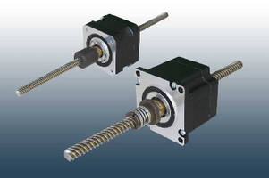 Step Motors feature integrated leadscrews.