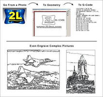 Engraving Software imports bitmap files and photographs.