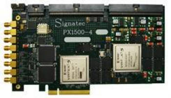 PCI-Express Digitizer features 2 Virtex-5 FPGAs.