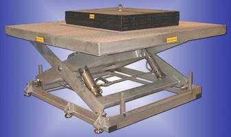 Custom Lift Tables suit food and pharmaceutical industries.