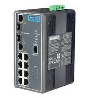 Managed PoE Switch withstands rugged industrial applications.