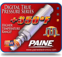 Digital Pressure Transducer is rated to +350°F.