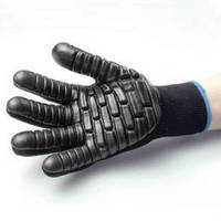 Vibration Dampening Gloves have cotton/poly knit construction.