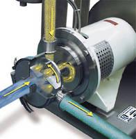 In-Line Mixer facilitates powder induction in liquid stream.