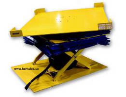 Pneumatic Scissor Lift Table tilts and rotates.