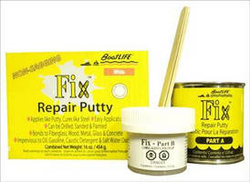 Repair Putty can cure underwater.