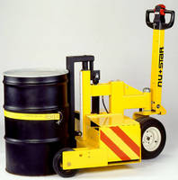 Battery-Operated Cart lets one person lift/move 55 gal drums.