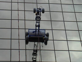 High-rise Window Cleaning System travels at rates to 35 fpm.